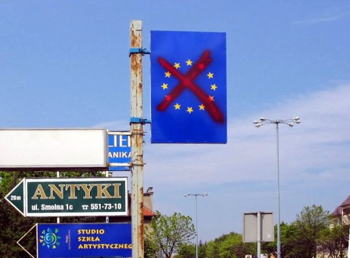 Photo of Polish Anti-EU sign